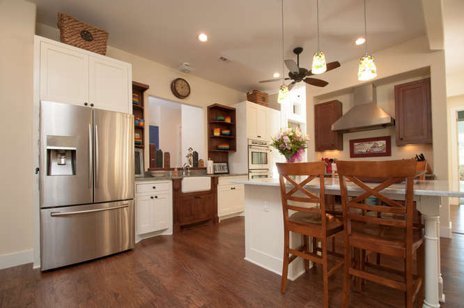 country kitchen custom home design in hutto