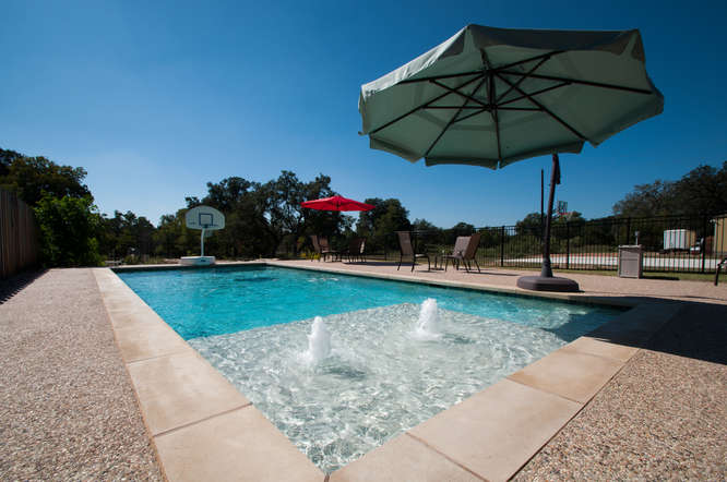 luxury pool in home design in central texas