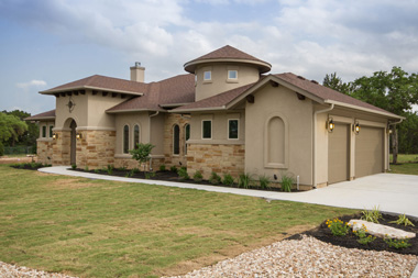 custom homes by san gabriel builders in lago vista