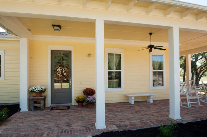 covered front porch custom design for your home by san gabriel builders in marble falls