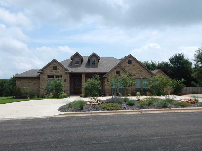 custom homes by san gabriel builders in texas