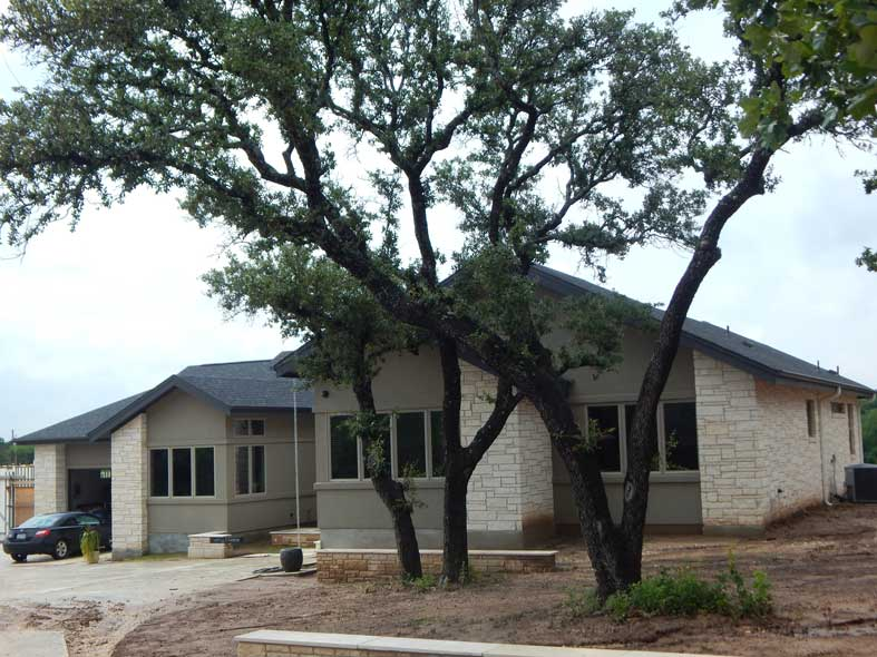 modern design custom built home central texas