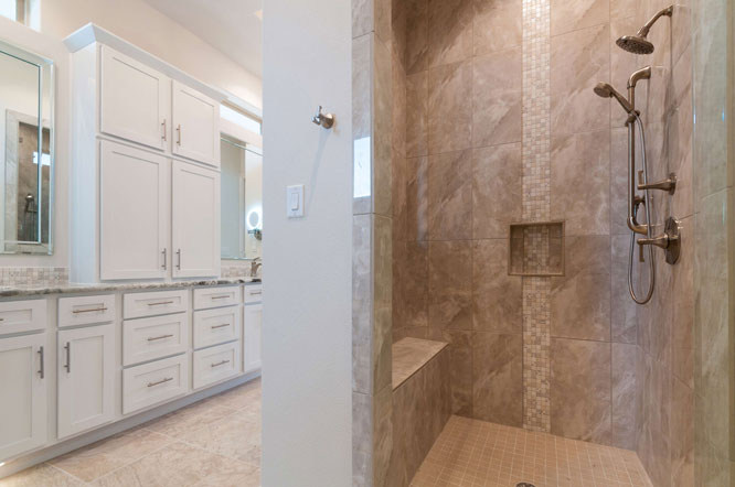 Luxurious custom walk-in shower