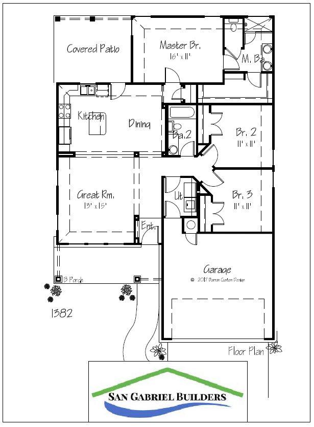 Home for Sale 302 Bluebonnet Granite Shoals floorplan