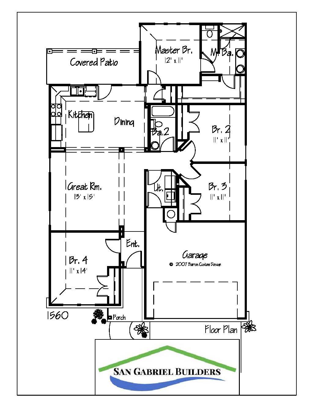 1131 Primrose, Marble Falls Floor Plan