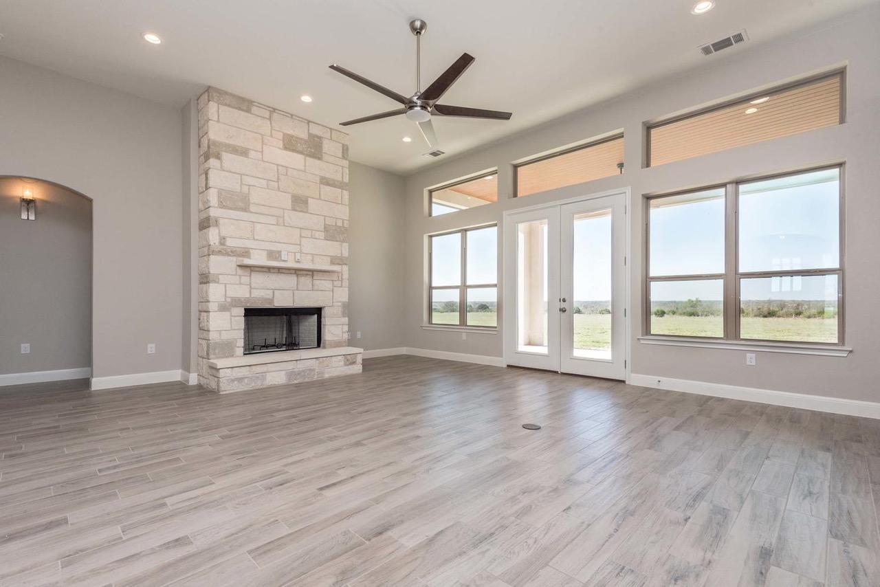 109 Floyds Run, Bertram TX - living room fireplace