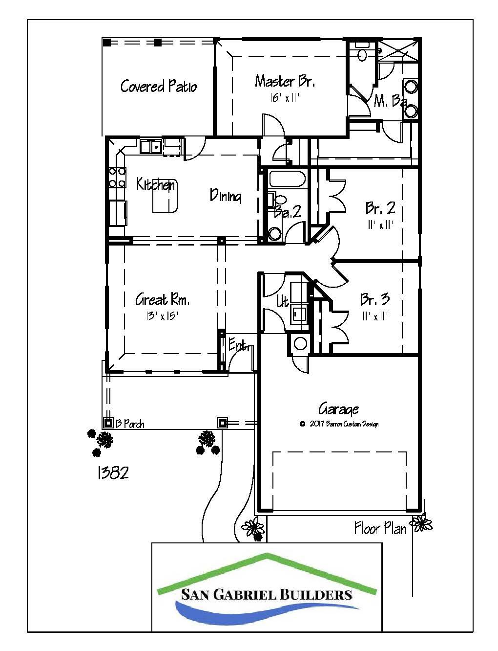 1321 Primrose, Marble Falls Floor Plan