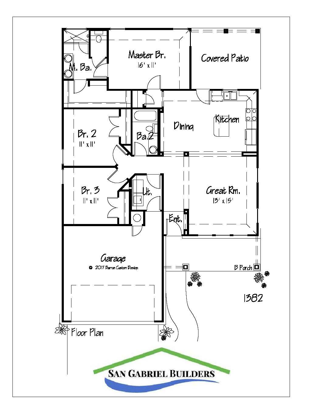 1316 Primrose, Marble Falls Floor Plan