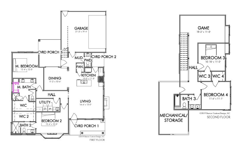 Lot 12 - The Retreat - Georgetown - floorplan