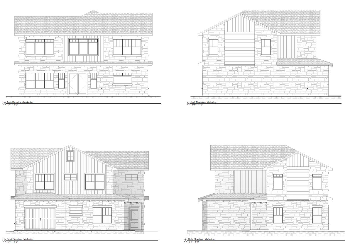 129 Firestone, Meadowlakes elevations